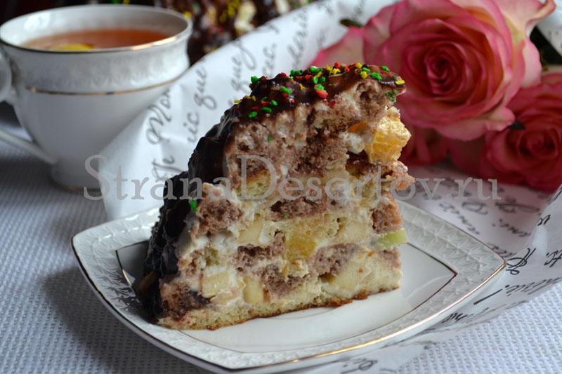 торт со сметанным кремом по рецепту с фото