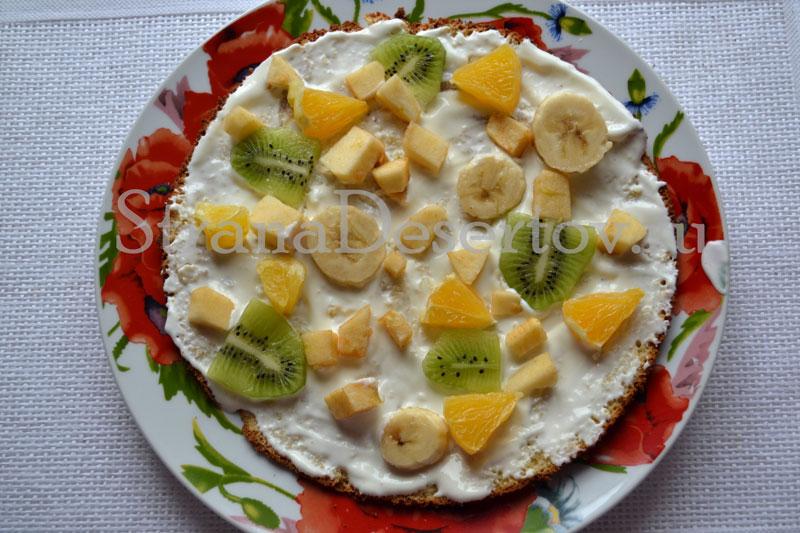 выкладывание фруктов