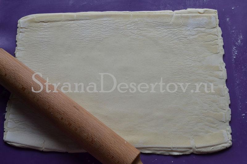 слоеное тесто для ушек