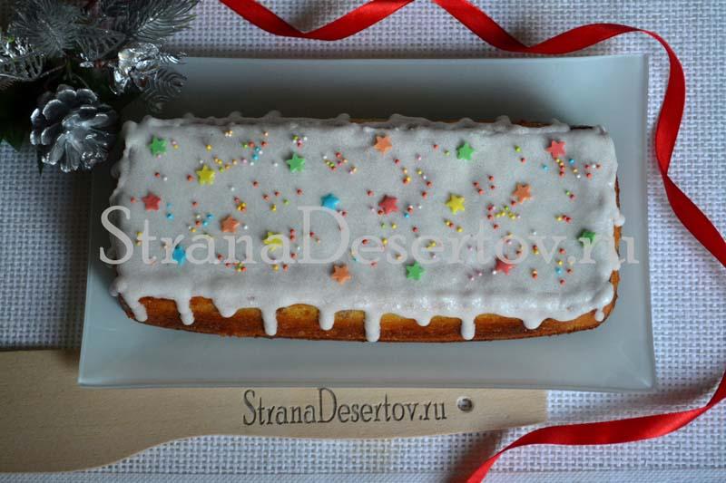 вкусный кекс с глазурью