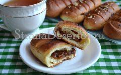 рецепт булочек со сгущенкой