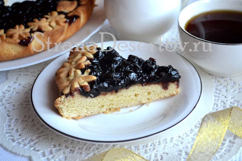 песочный пирог с вареньем по рецепту с фото