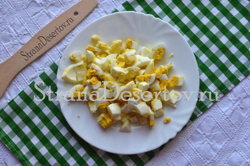 яйца нарезаю