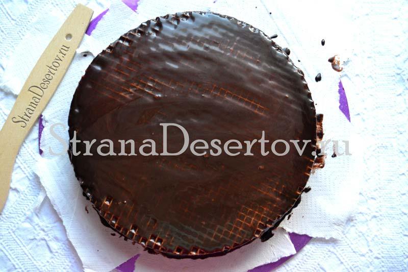 покрытие торта глазурью