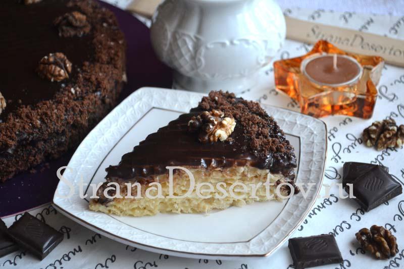 вкусный торт со сгущенкой