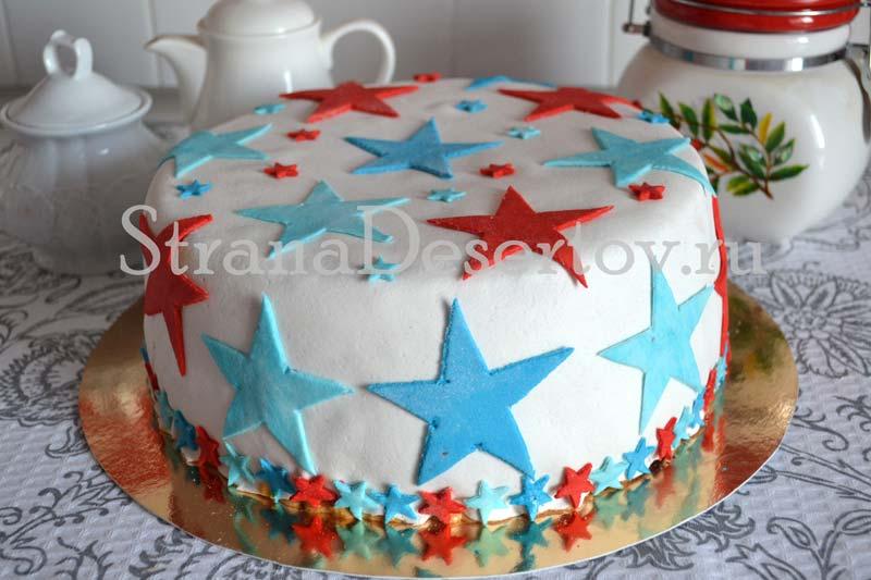торт с мастикой из маршмеллоу