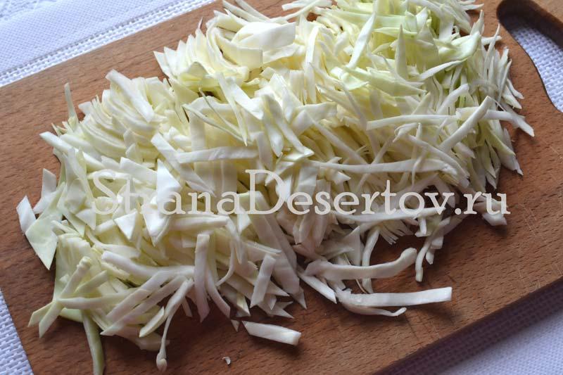 шинкование капусты