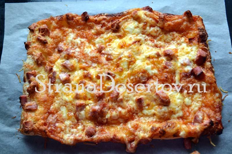 выпекание пиццы в духовке