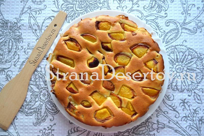 готовый пирог на кефире