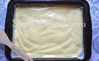 выпекание бисквитной основы