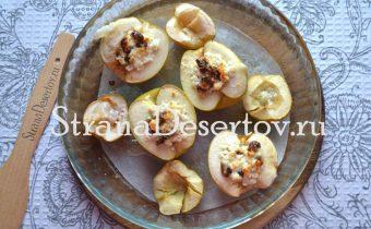 запекание яблок в духовке