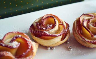 булочки розочки с яблоками