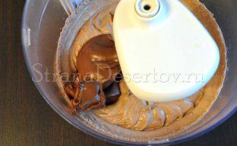 добавление шоколадной пасты