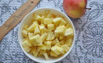 измельчение яблок