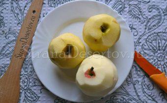 чистка яблок