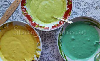 разноцветное тесто