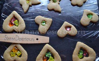 кусочки карамели в печеньях