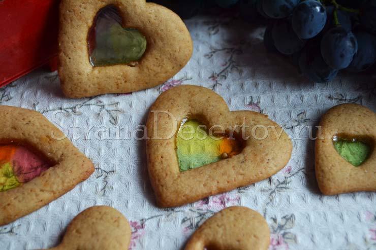 печенье с карамелью