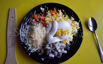 начинка с яйцом и сельдью