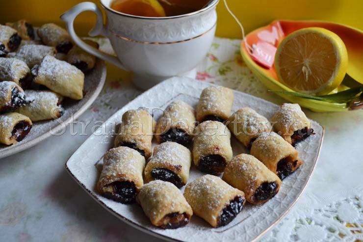 песочное печенье на маргарине рецепт с фото с вареньем