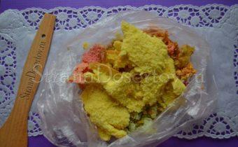 цветной бисквит