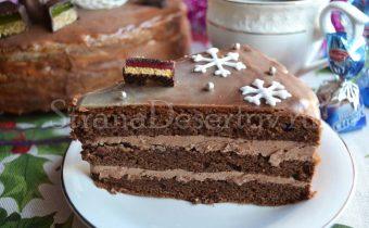 торт прага в разрезе