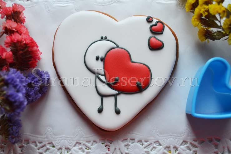 пряник сердце