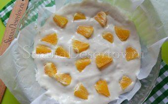 выкладывание апельсин
