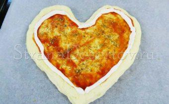 пицца сердце