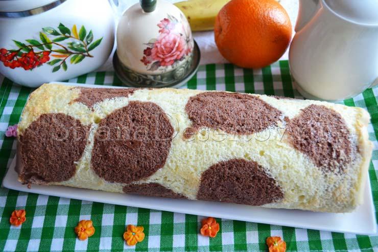 рецепт домашнего бисквитного рулета
