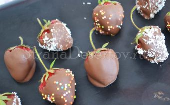 покрытие клубники шоколадом