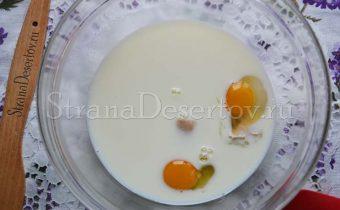 замес теста на молоке